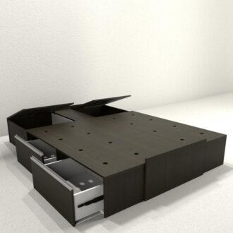 BOX SOMMIER ADAPTABLE DE 1,40m Y 1,60m Art.6423-WH